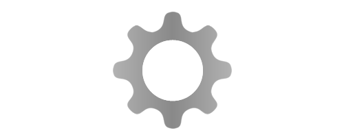 Black and white vector cog